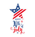 4th of july celebration holiday banner star shape vector image vector image