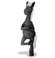 A grey horse vector image vector image