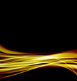 Abstract gold luxury wave layout background vector image