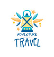 adventure travel logo design summer vacation vector image vector image
