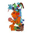 aztec character vector image vector image