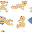 baby toddler flat character seamless vector image vector image