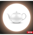 Background of White ceramic teapot vector image