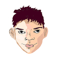 boy face drawing looking right vector image vector image