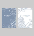 brochure template layout design beautiful winter vector image vector image
