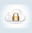 cloud computing security over white background vector image