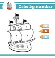color numbers coloring page for preschool vector image vector image