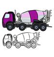 Concrete Truck Mixer vector image