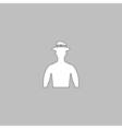 Cowboy computer symbol vector image