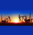 creative of oil pump industry vector image