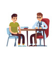 doctor and patient in hospital office people vector image vector image