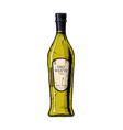 dry white wine vector image vector image