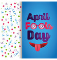funny greeting banner decoration confetti vector image