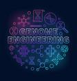 genome engineering circular colored line vector image