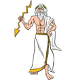 greek god zeus cartoon vector image vector image