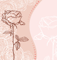 Greeting card with rose vector image vector image