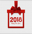 happy new year 2018 square banner vector image vector image
