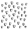 heart doodle hand drawn in brush pen style vector image