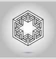 impossible geometry symbols on grey vector image vector image