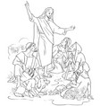 jesus preaches the gospel coloring page vector image vector image