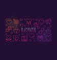 love concept colored outline vector image vector image