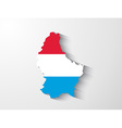 Luxembourg map with shadow effect vector image