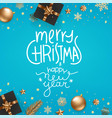 merry christmas and happy new year winter season vector image