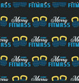 merry fitmass seamless pattern graphic print for vector image vector image
