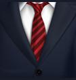 necktiecostumeclassic tuxedojacket vector image vector image