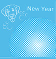 new year greeting card pop art comic banner vector image