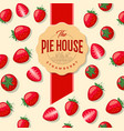 packaging strawberry pie vector image vector image
