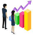 people study statistics shown on bar chart vector image vector image