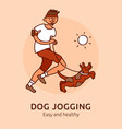 pet jogging poster vector image vector image