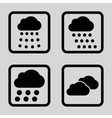 Rain Clouds Flat Squared Icon vector image