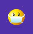 realistic detailed 3d medical mask emoji sign vector image