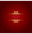 red and gold luxury background vector image vector image