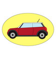 red mini cooper on white background vector image vector image