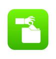 robbery secret data in folder icon digital green vector image
