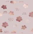 rose gold elegant texture with a floral pattern vector image vector image