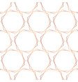 rose gold foil hexagons seamless pattern vector image vector image