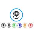 seo geotargeting rounded icon vector image vector image