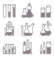 set chemistry icons vector image vector image