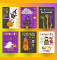 set halloween posters or greeting card vector image vector image