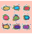 Set of round floral frames Could be used for vector image vector image