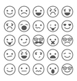 Set of smiley icons with different emotions vector image