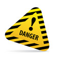 sign warning danger vector image