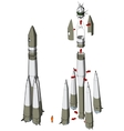 Space rocket infographics