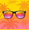 summer sale special banner with sunglasses vector image vector image