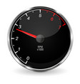 tachometer black 3d vehicle gauge vector image vector image