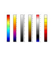 thermographic camera color palettes vector image vector image